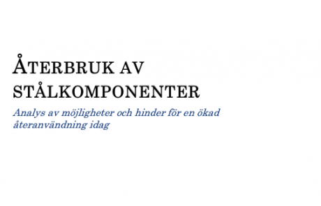 ÅTERBRUK AV STÅLKOMPONENTER