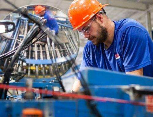 Industriföretagen går på högsta fart